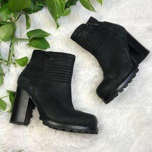 Sam Edelman Black ankle Heeled boots sz 7